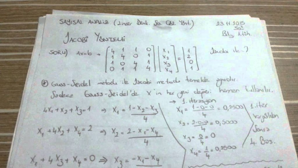 Sayısal Analiz ve Numerik Analiz (1) – Sayısal Analiz ve Numerik Analiz Yaptırma Fiyatları – Numerik Analiz Danışmanlık
