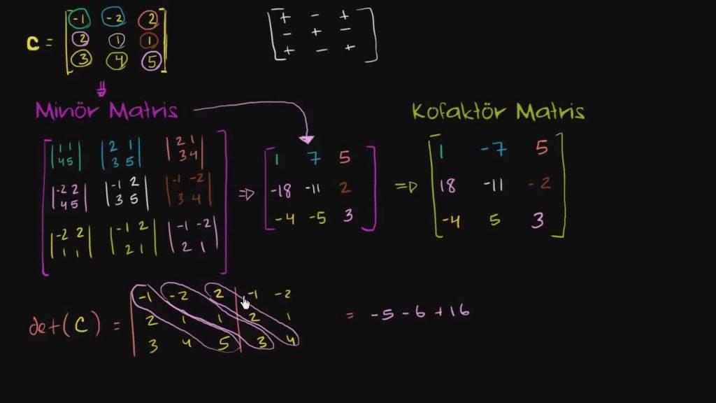 Matrisler – Alt Uzaylar Oluşturmak 11 – Tersin Belirleyicisi – Matris Sistemleri – Matrisler Ödev Yaptırma