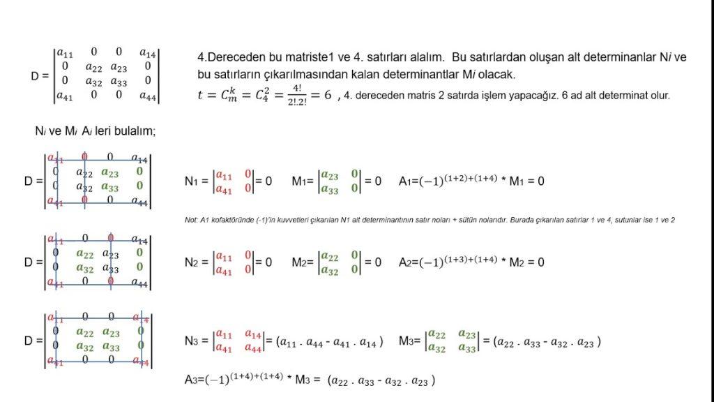 Matrisler – Belirleyiciler 9 – Tersin Belirleyicisi – Matris Sistemleri – Matrisler Ödev Yaptırma